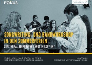 Songwriting Flyer Vorderseite